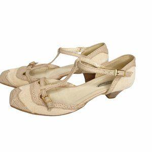 Vintage Stephane Du Raucourt t-strap heels